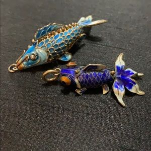 Jewelry - 🌺FINAL PRICE🌺2 Cloisonné moveable fish charms